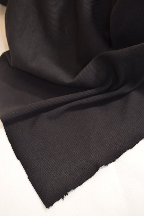Black Cotton Ribbing