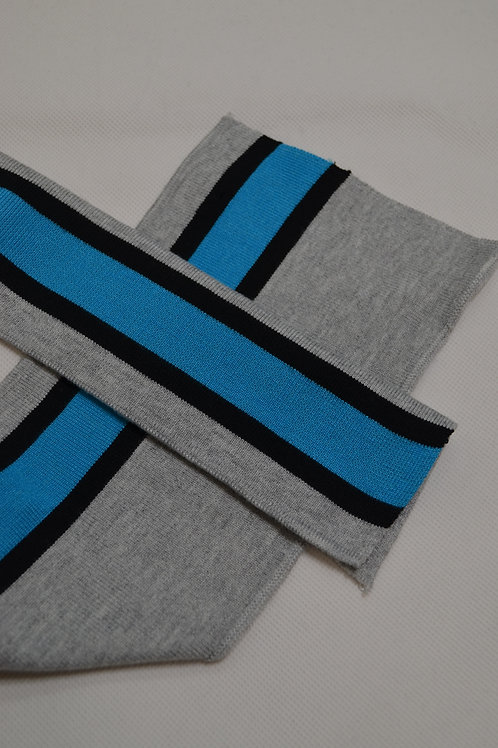 Ribbing - Grey and Bright Blue