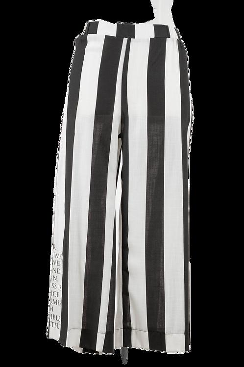 DEEANNE HOBBS - B&W STRIPE PANTS - DHS2063