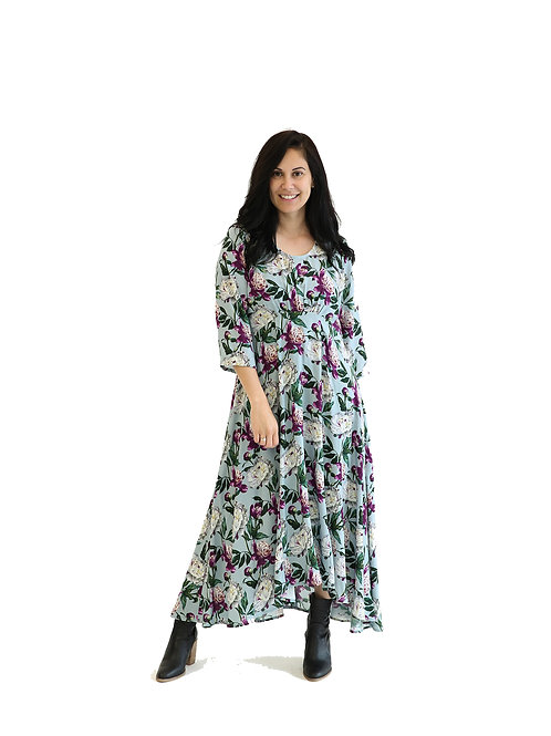 NEW SEASON - CERISE FLOWER DRESS - JSW2113