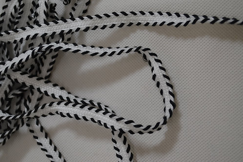 B&W Trimmed Ribbon (#1008