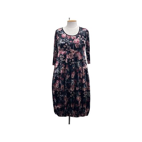 VELVET FLOWER GARDEN DRESS - JW2101JELL
