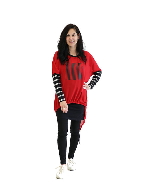 NEW SEASON - RELAX FIT TOP RED - JSW2130