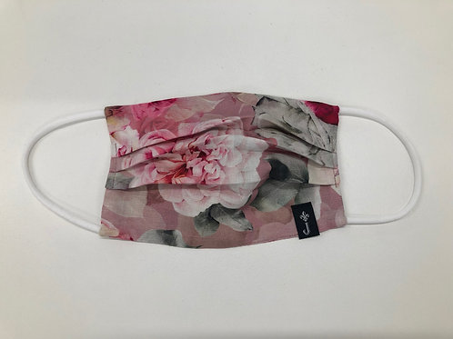 Face Mask - Pink Peony - Made in NZ