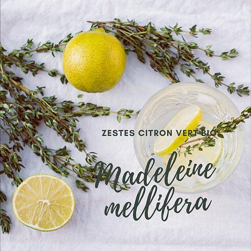 Madeleine artisanale aux zestes de citron vert
