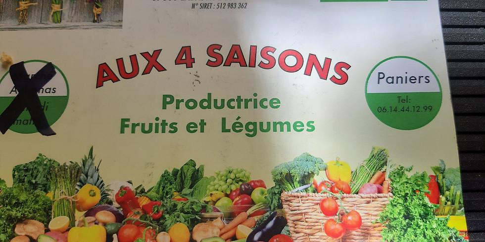 Vente de légumes BIO les jeudis matins !