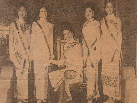 Yue-Sai Kan Judges the 70th Narcissus Queen Pageant in Honolulu
