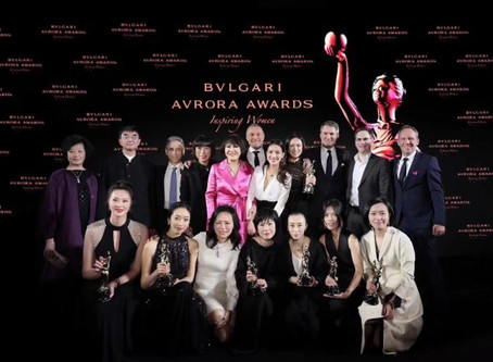 Yue-Sai Kan Attends the Bulgari Avrora Awards as an Award Presenter