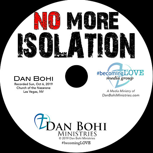 Dan Bohi -No More Isolation - MP3