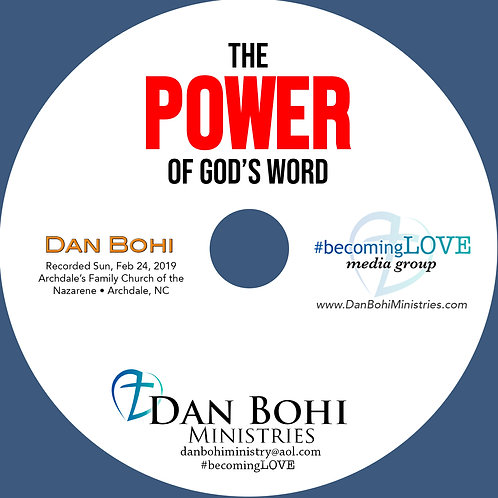 Dan Bohi - The POWER of God's Word - MP3
