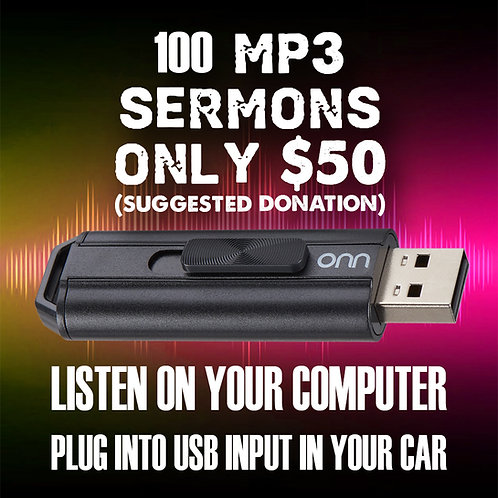 Dan Bohi - 100 MP3 Sermons - USB Flash Drive