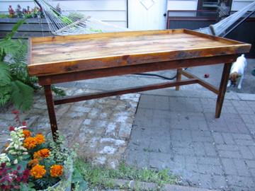 Reclaimed Pine Train Table