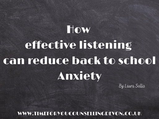 How effective listening can reduce back to school Anxiety