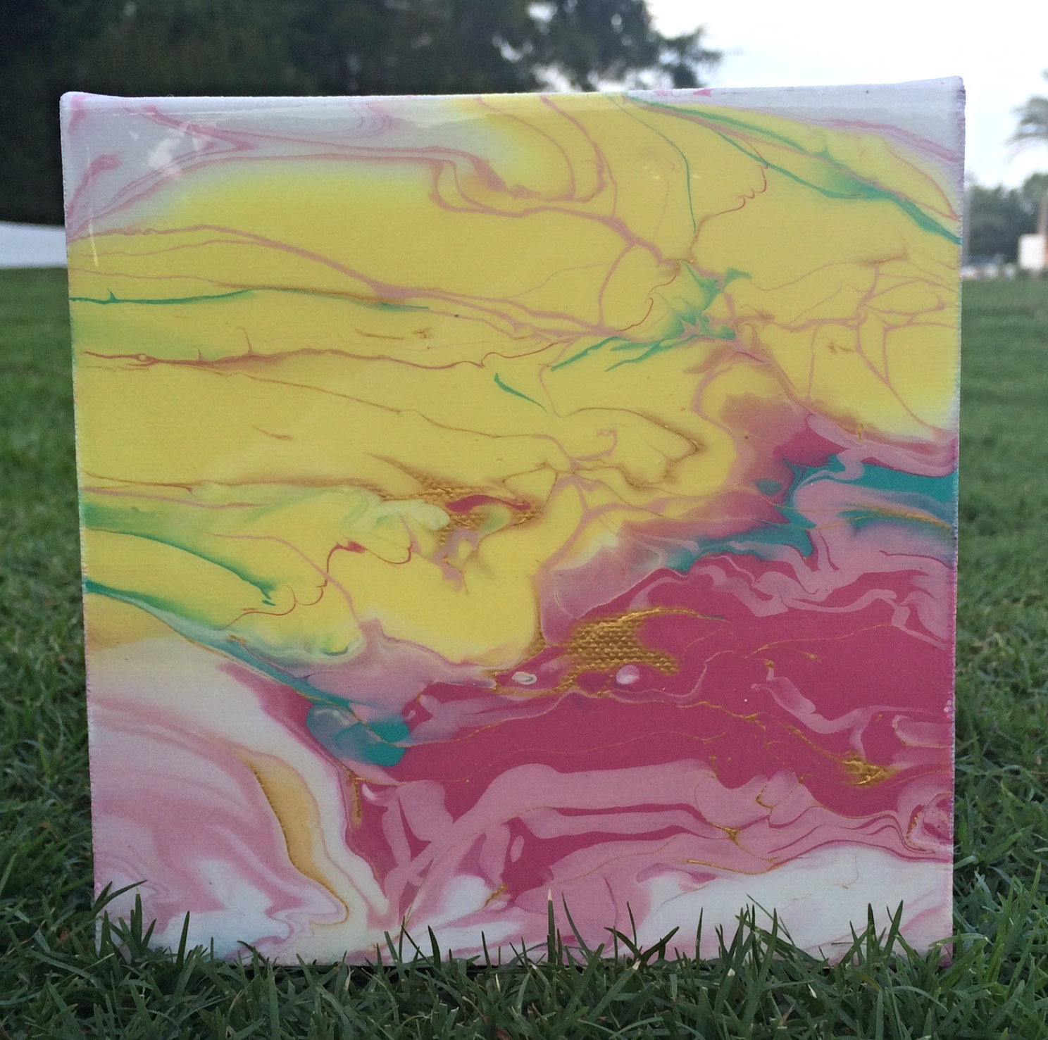 abstract pour art