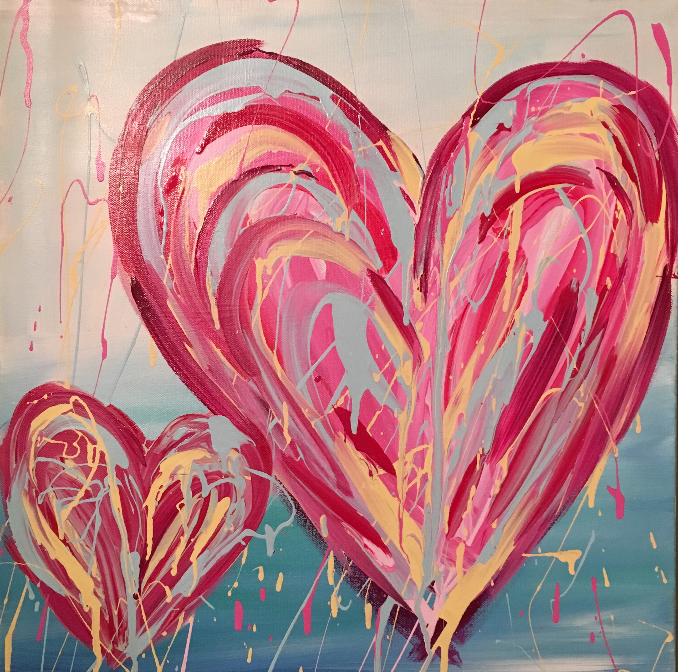 abstract heart art