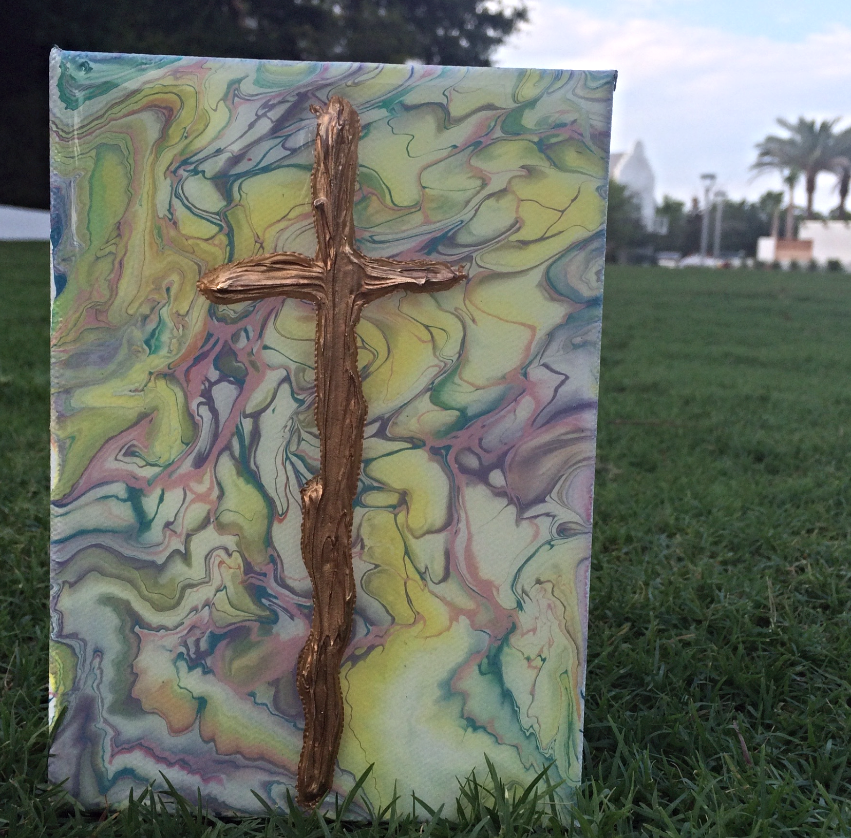 abstract cross art