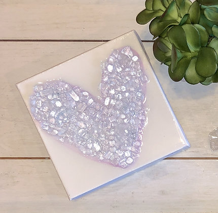 Large Pink Glass Heart