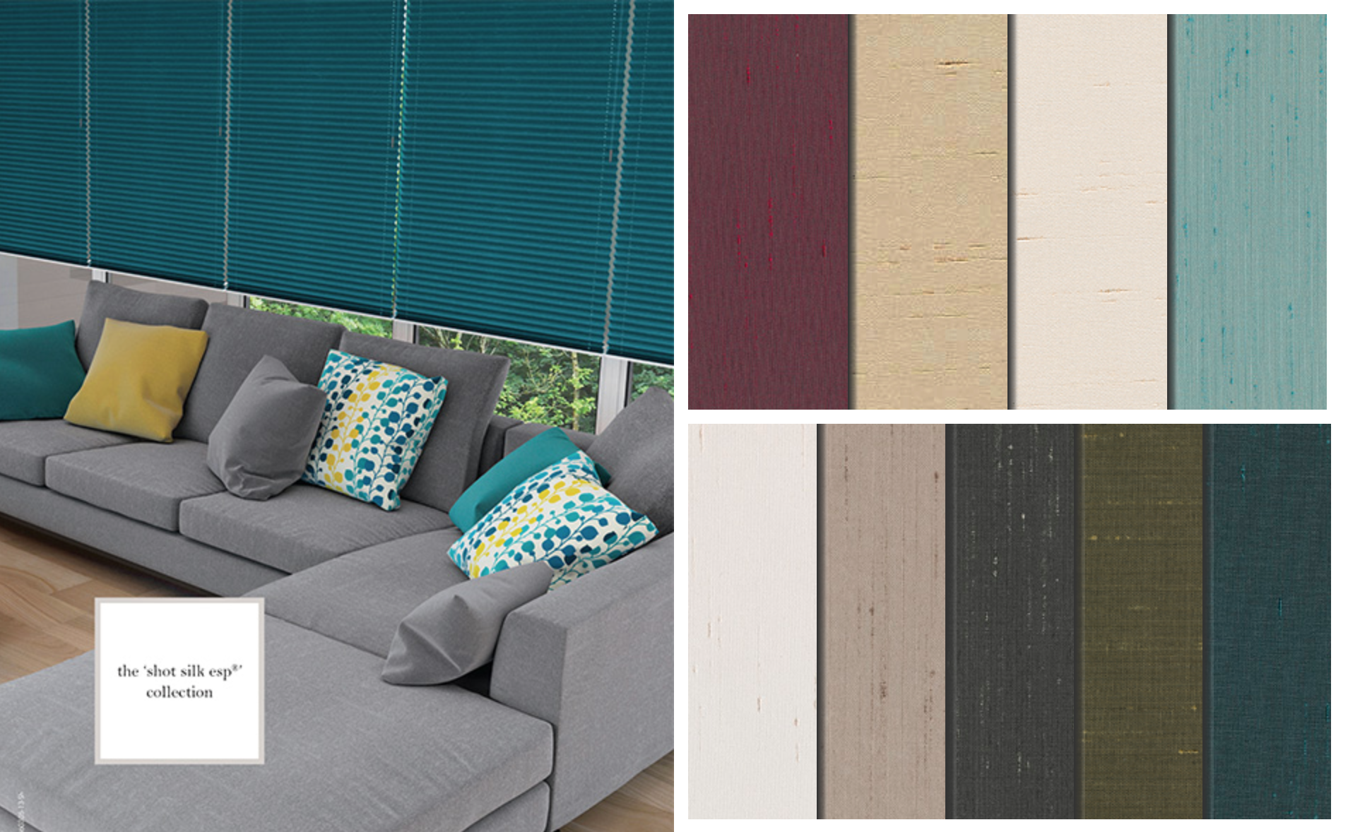 Silk Blackout Pleated Blinds