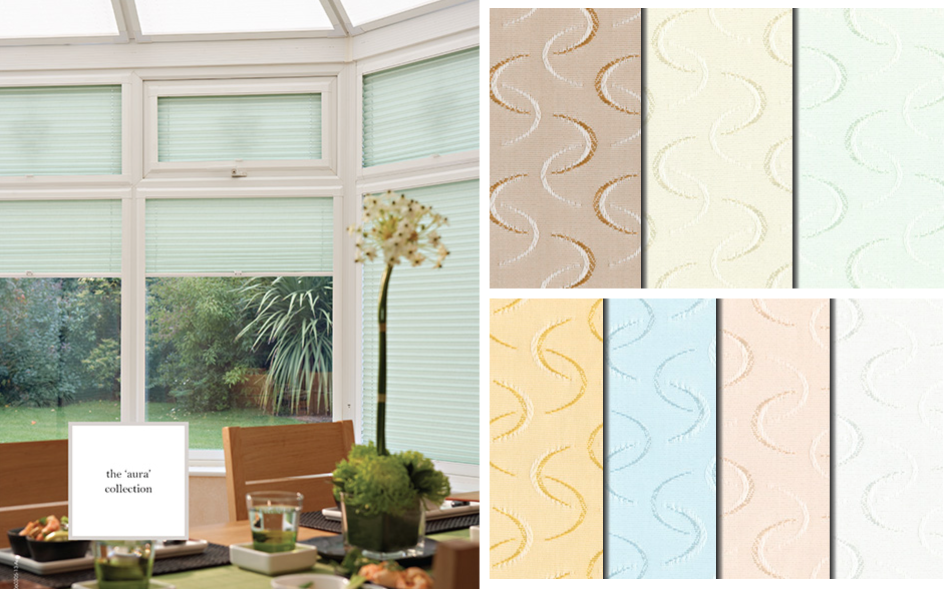 Aura Pleated Blinds Translucent