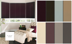 Satin Blackout Pleated Blinds
