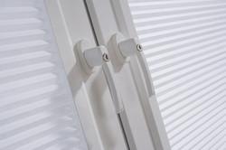 Blinds for tilt and turn upvc window