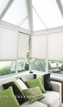 Pleated blinds tilt and turn