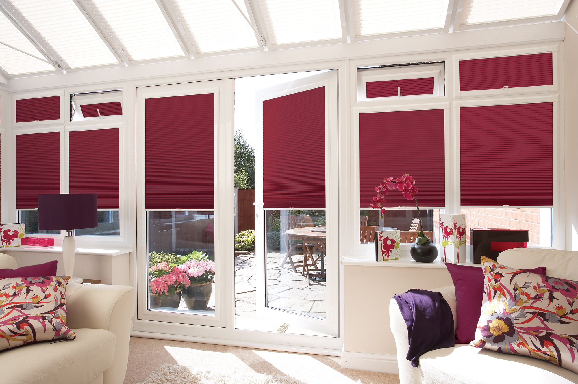 Perfect fit blinds pleated