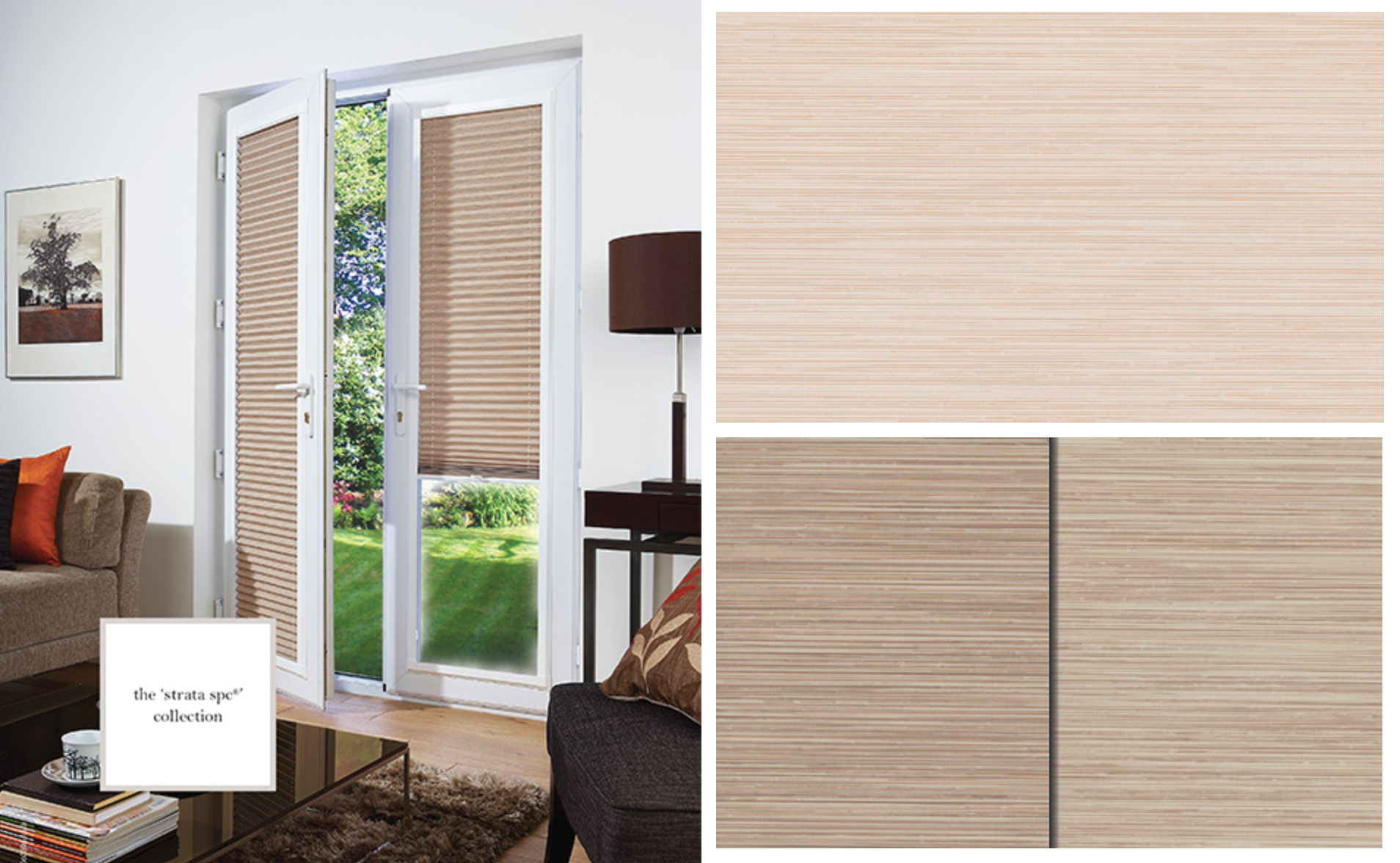 Strata Pleated blinds Translucent