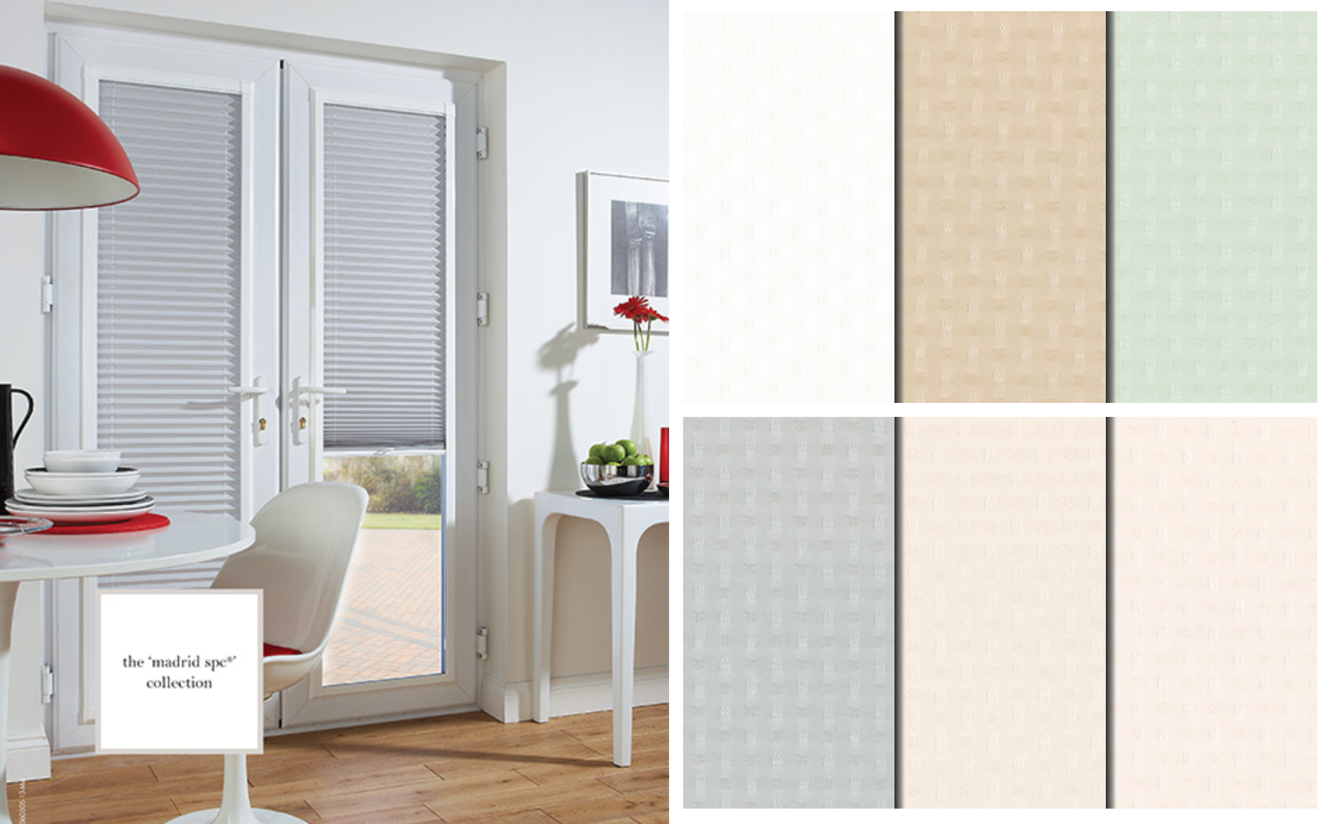 Madrid Blackout Pleated blinds