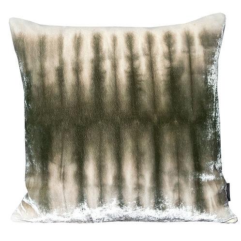 Moss Skeleton Silk Velvet Cushion