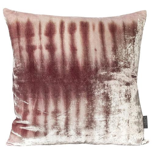 Maroon Skeleton Silk Velvet Cushion