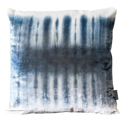 Indigo Skeleton Silk Velvet Cushion