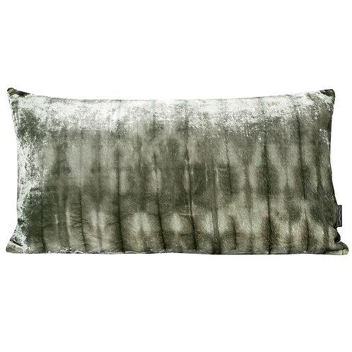 Moss Forest Silk Velvet Rectangle Cushion