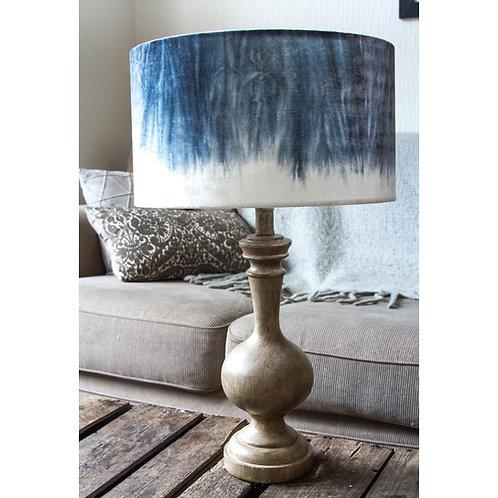Indigo Silk Velvet Lampshade