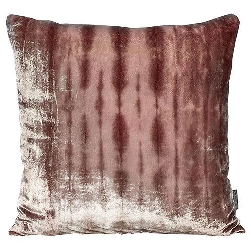 Maroon Forest Silk Velvet Cushion