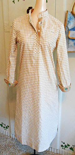 60s Lanz Mod Shift Dress Size Medium