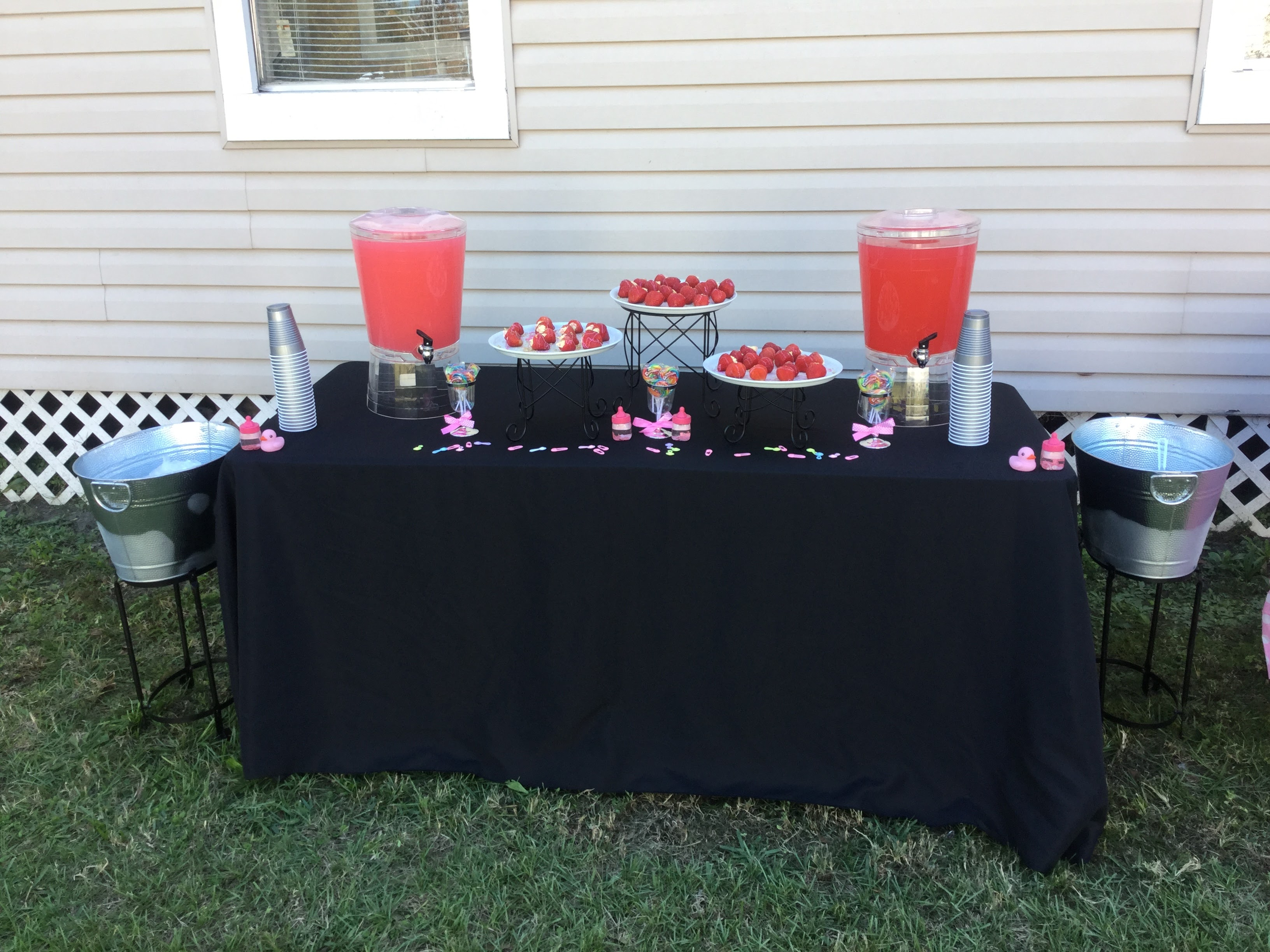 outside baby shower