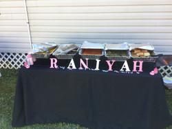 baby sower food display