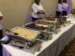 buffet wedding bar