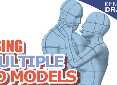 Clip Studio Paint- How to make a scene with multiple 3D models