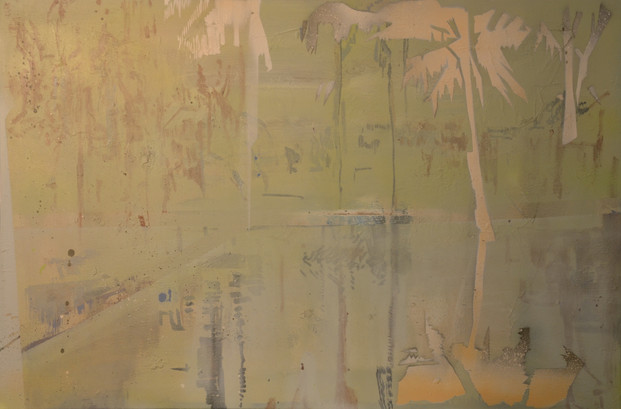 04 _The great escape_ oil, spray paint o