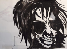 Mauro Pawlowski ink _ marker on aquarelle paper, 50x65cm