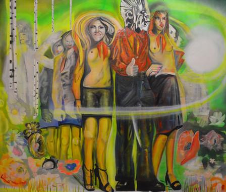 08 _Scouts of Ukrain_ oil, spray paint o