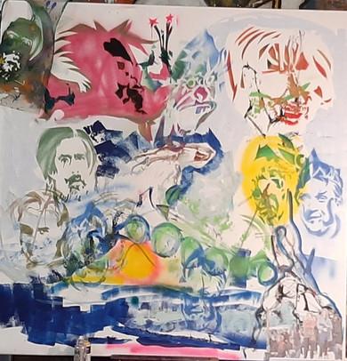 Live painting museum dr Guislain