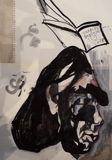 Dirk De Wachter ink _ marker on aquarelle paper 50x65cm