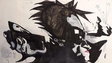 Andrej Babenko ink _ marker on aquarelle paper 50x65cm