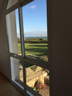 La vue depuis la chambre à l'étage