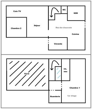 Plan RDC & 1er étage