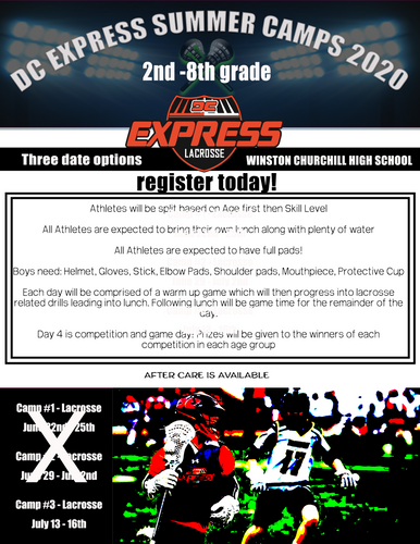 DC EXPRESS SUMMER CAMPS