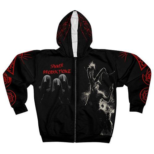 Sinner Productionz Ritual zip-up hoodie